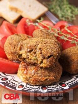 Вегетариански кюфтенца от леща и гъби печурки печени на фурна - снимка на рецептата